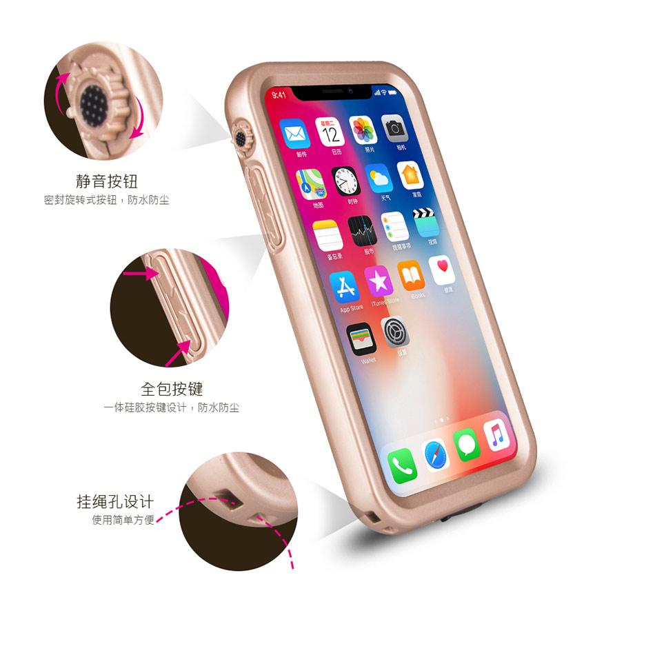 苹果IphoneX无屏幕素材防水手机壳