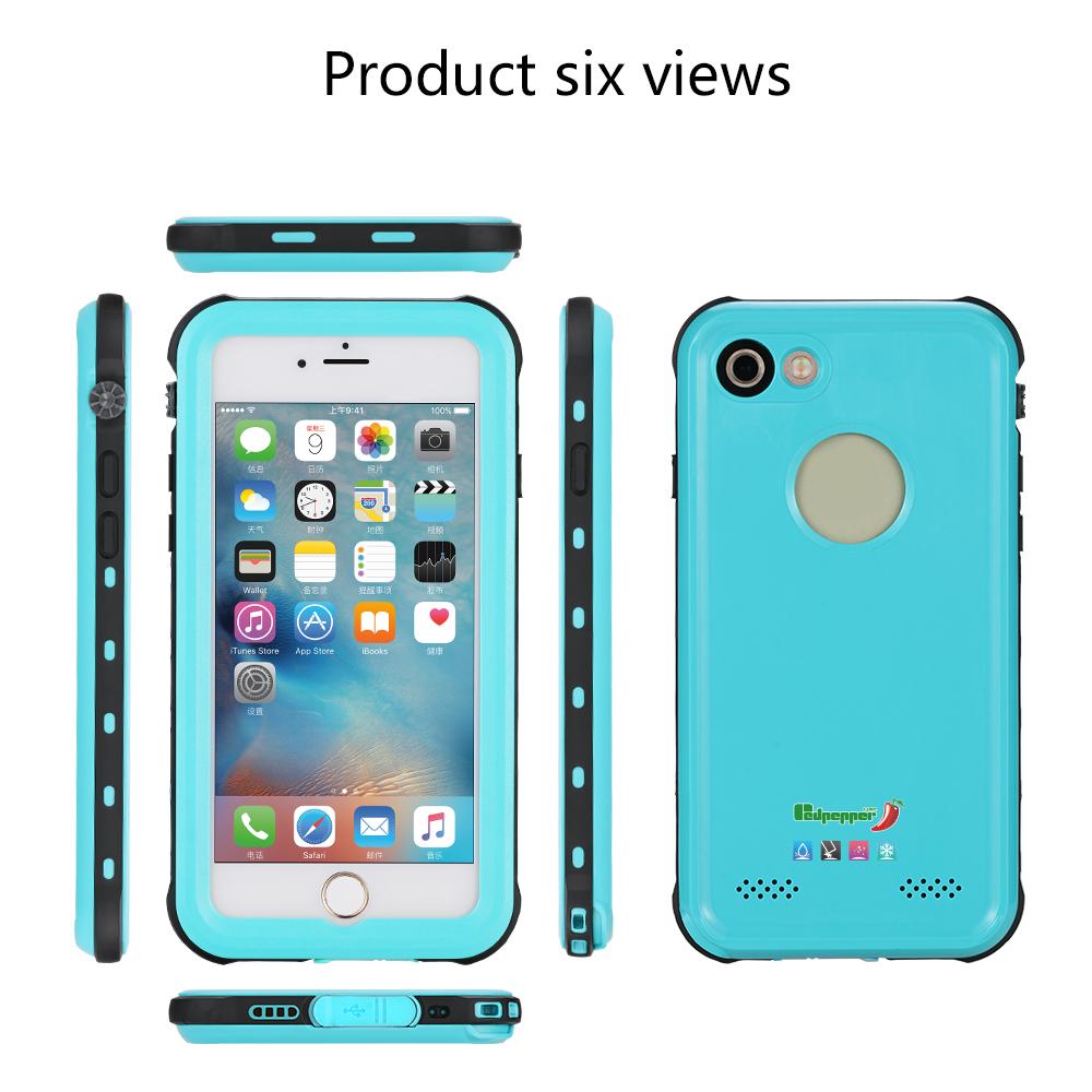 红辣椒redpepper case品牌iPhone7/8手机防水壳小贝壳出品4.7寸经典款苹果78通用款四防保护套